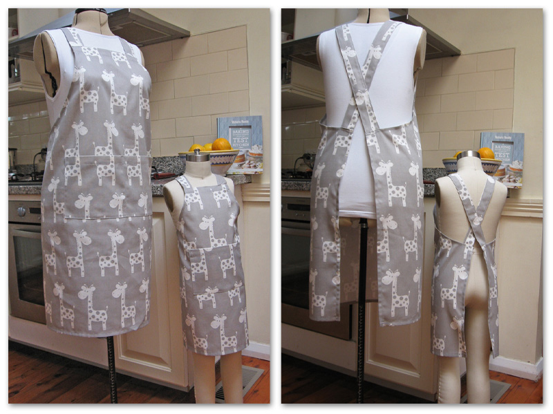 Free Pattern Cross Back Apron For Mothers And Daugthers